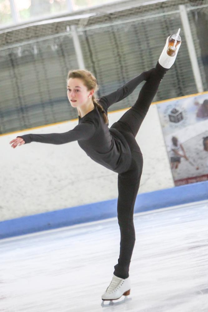 Natalie Raab out on the ice