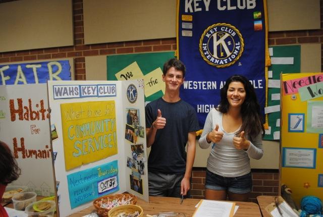 Two Key Club representatives at the Club Fair.