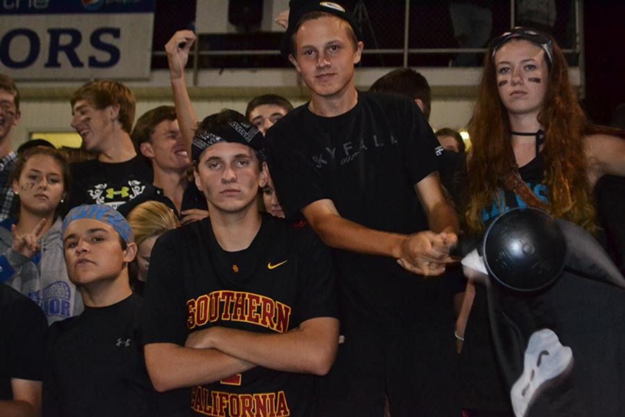 WAHS fans focus on the game.