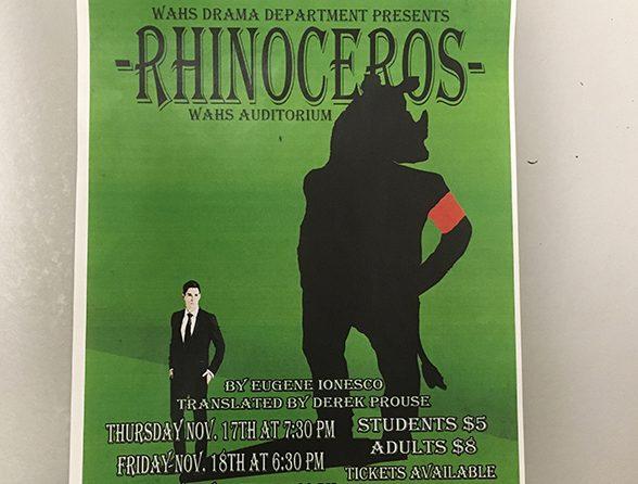 Stampede! Drama Department Unveils Fall Play, Rhinoceros
