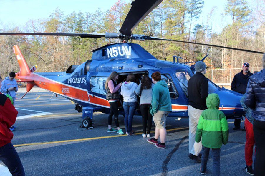 WAHS students explore UVA's Pegasus