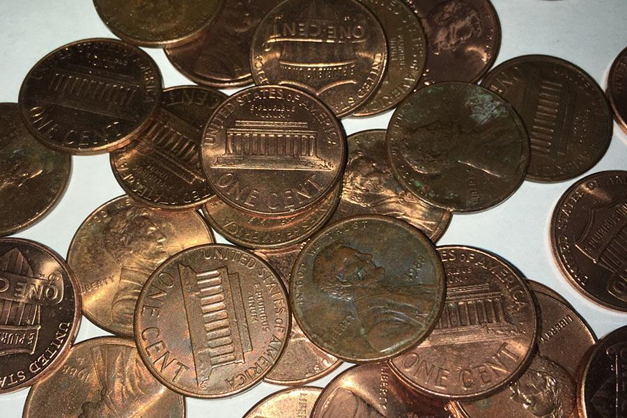 A herd of useless pennies that should be demolished