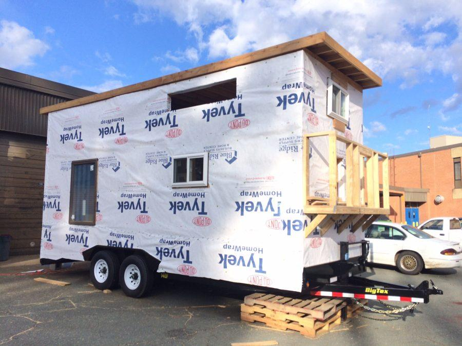 The tiny house will be raffled away at the end of the year.