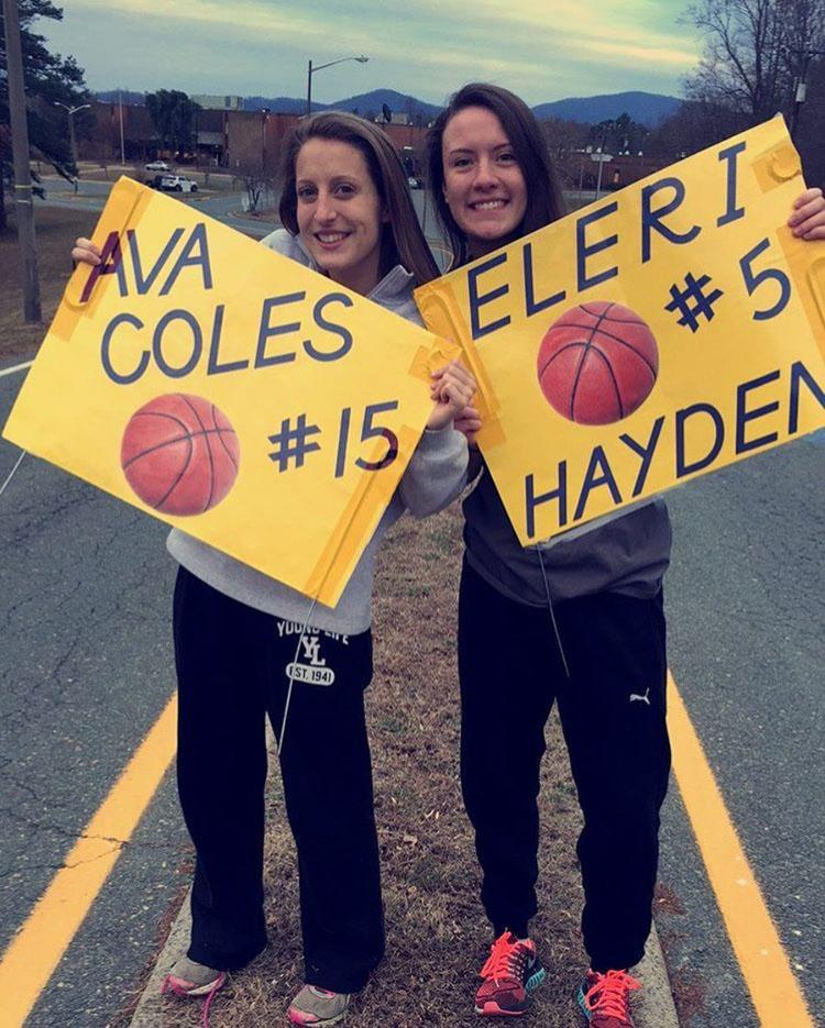 Seniors Ava Coles and Eleri Hayden were rocks of this year's team.