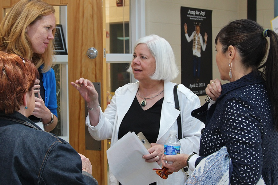 Dr. Moran speaks with fellow educators at Albemarle County Public Schools' Unleashing Potential Conference.