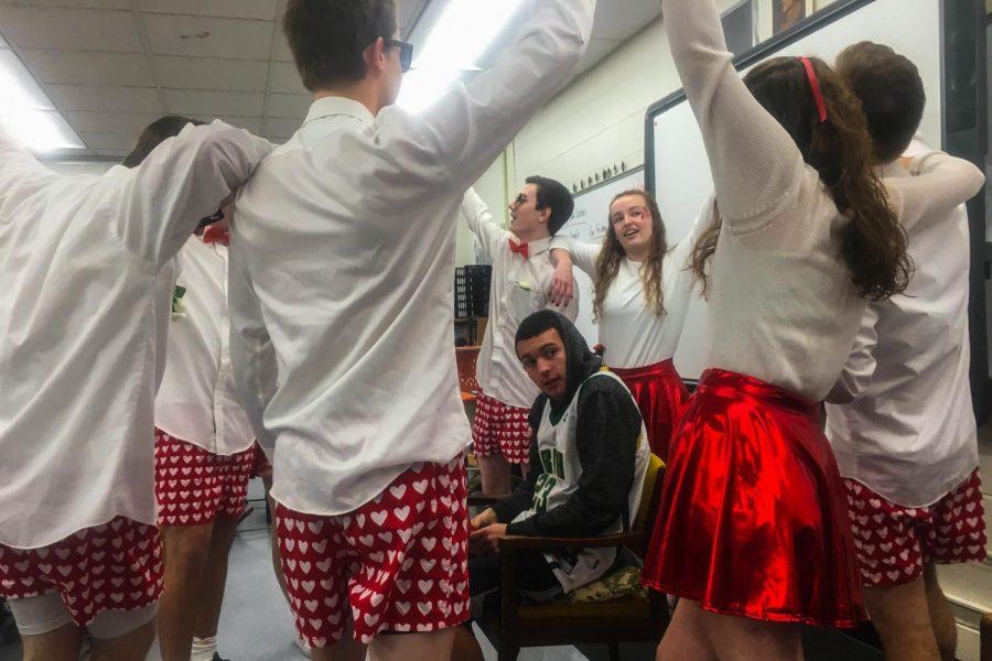 A senior group sings