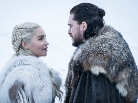 Jon Snow and Daenerys Targaryen discuss the future of Westeros in this released Season 8 still from HBO