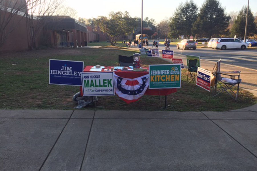 Local polls took place at Western on Election Day.