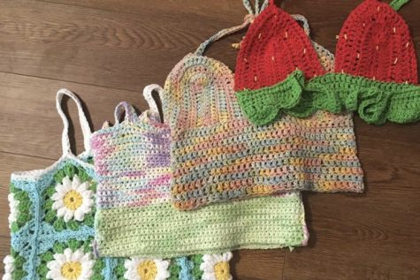 During quarantine, Beth Bryerton has made four crochet tops.