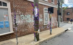 Students planned the workshops in response to the racism they have witnessed locally, nationally, and personally. Here, the memorial for Heather Heyer, who was killed during the 2017 Unite the Right rally, is still maintained on 4th Street downtown.