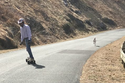 Local Towles Lawson has used his hobby of motorized skateboarding to get through the pandemic.