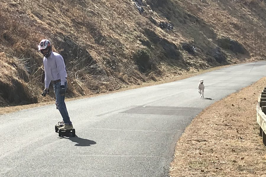 Ivy resident Towles Lawson has used his hobby of motorized skateboarding to get through the pandemic.