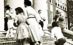 Student Sandra Wicks, a member of the Charlottesville Twelve, enters Venable Elementary School on September 8, 1959.