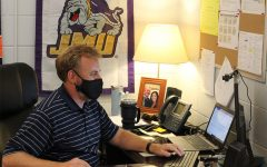 Granger has designed his office to represent his history in education as a student, teacher and administrator.